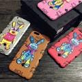 写真: MCM iphone7ケースエムシーエムロゴアイフォン7 plus/7/6カバー有名人愛用iPhone 6Pウサギ兔高質革製iphone6sおしゃれ