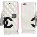 写真: キラキラシャネルエナメル革アイフォン7/6s/SEケースChanel iphone6s Plus/5sケース手帳型ブランド鏡付き携帯ケースカード収納ペンダント