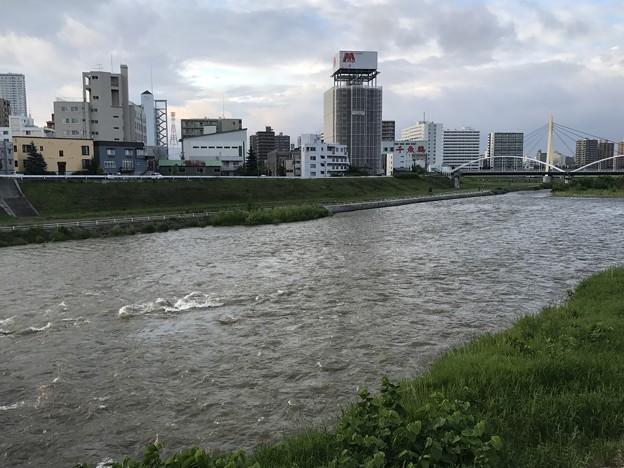 雨上がりの豊平川