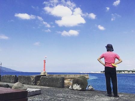 嵐の前の静けさ静浦の海は穏やかです!(静浦180727)
