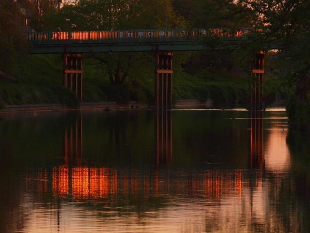 夕景「鉄橋」