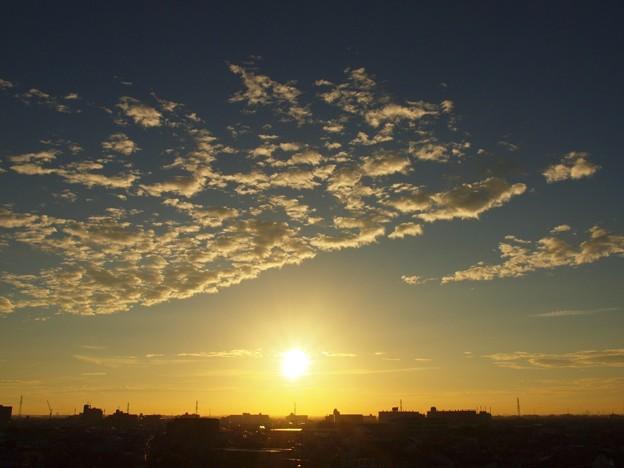 夕景「ちぎれ雲」