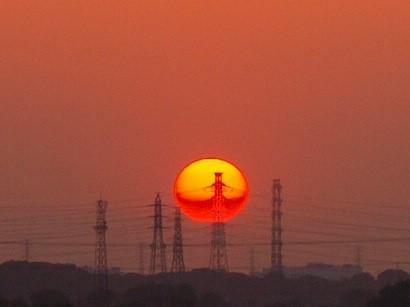 Photos: 夕陽のイリュージョン