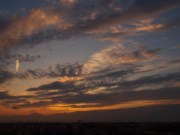 写真: 夕暮れの色彩