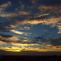 写真: 夕景「雲軍団」