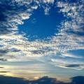 写真: 夕日が沈む頃