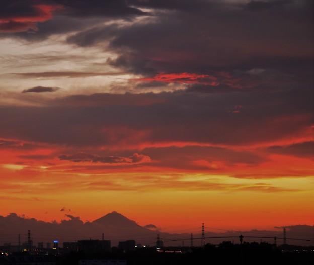 Photos: 夕日と富士