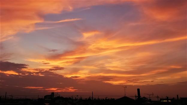 酷暑日の夕景