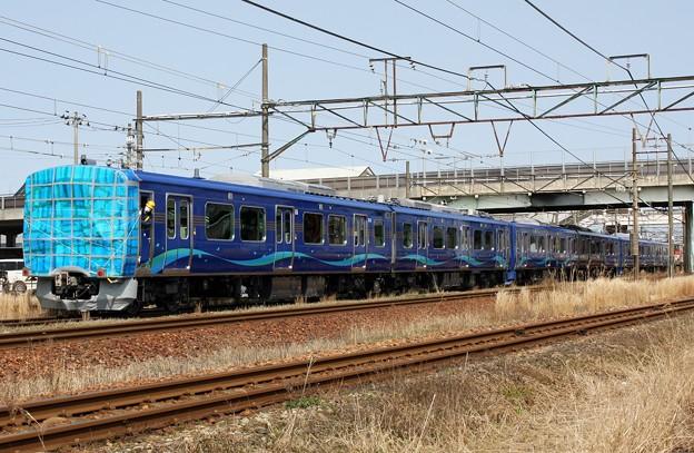 入換****レ SR1系S101+S102+S103 甲種輸送に伴う新津駅構内入換回送