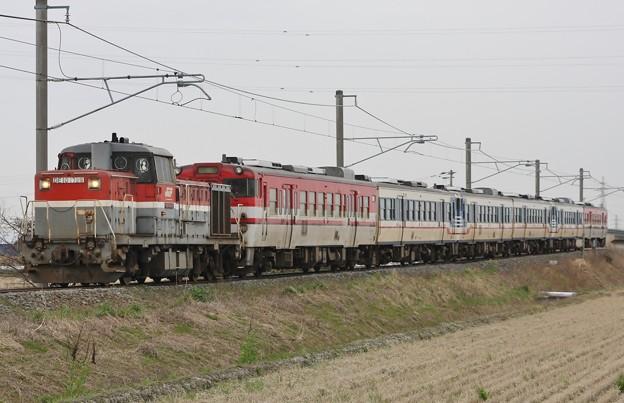 甲9685レ キハ47 6B ミャンマー譲渡に伴う甲種輸送