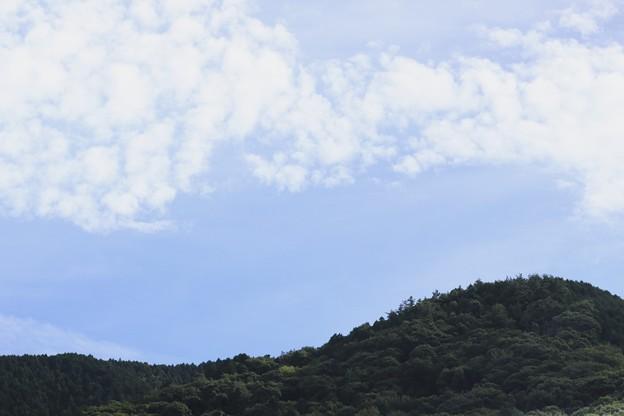 小さい秋~お山と秋の雲~♪