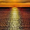 Photos: 朝日に反射する熊野灘