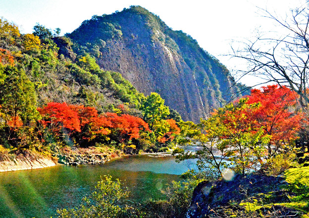 古座川の秋-1