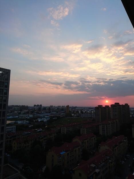 今日も夕焼け