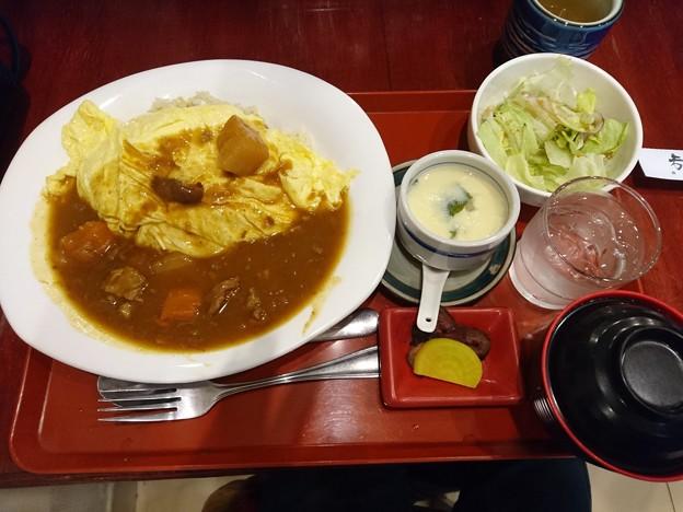オムライスカレー定食