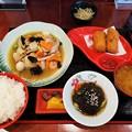 八宝菜 蟹クリームコロッケ モズク酢