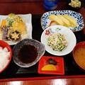 Photos: 野菜天ぷらだし巻き卵カニカマサラダ