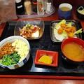 Photos: 三色丼豚肉豆腐串揚げ