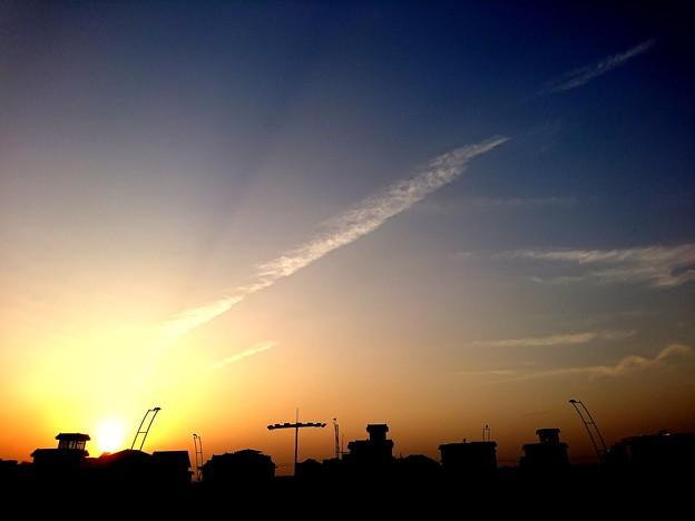 杭州の夕焼け