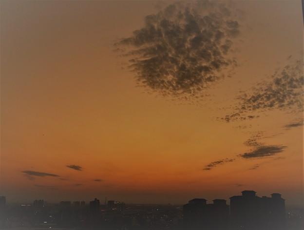 雲のある夕焼け