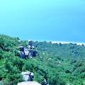 奇岩と海岸