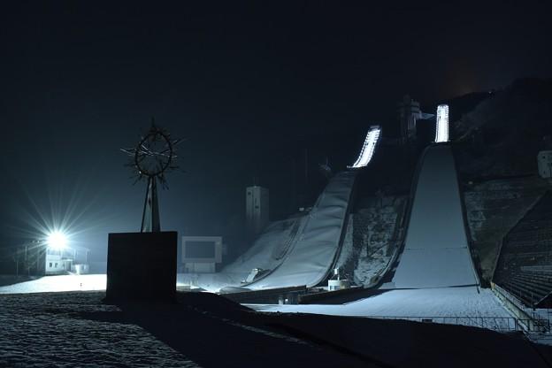 夜のジャンプ台