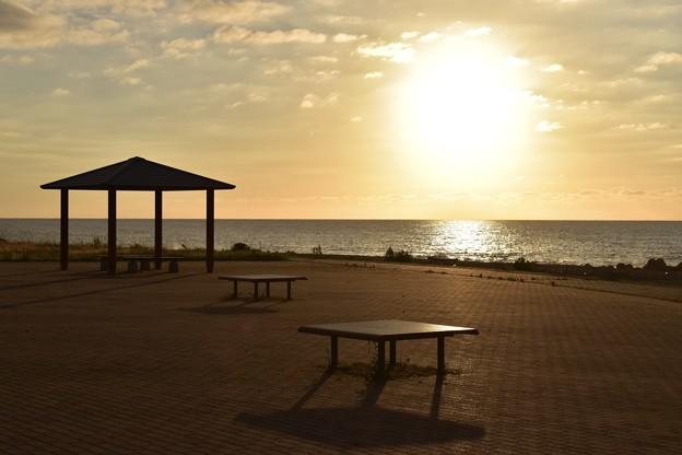 ラベンダービーチからの夕焼け