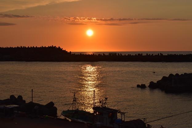 姫川港からの夕焼け