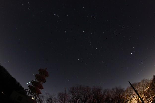 ふたご座流星群 北の空