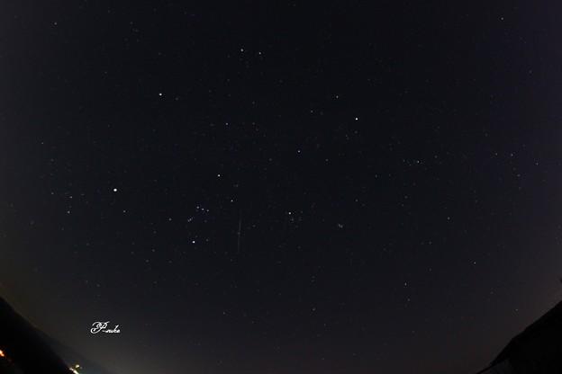 ふたご座流星群 南の空