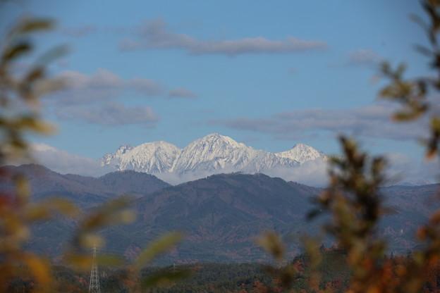 秋の山と冬の山