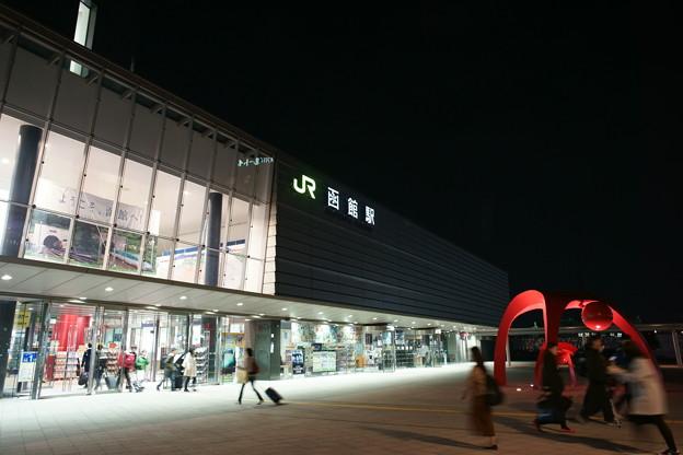 函館駅の夜
