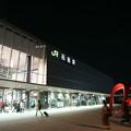 写真: 函館駅の夜