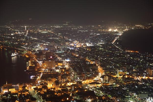 写真: 函館山の夜景