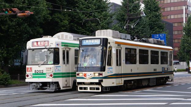 熊本市電 8202と8802