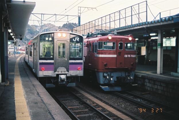 701系とED75 733