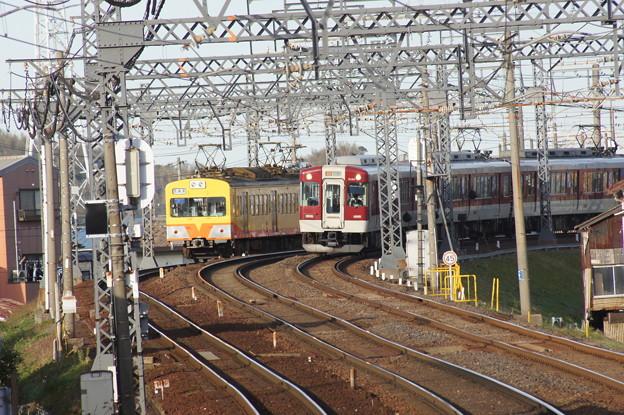 三岐鉄道 101系 105Fと近鉄5200系 VX