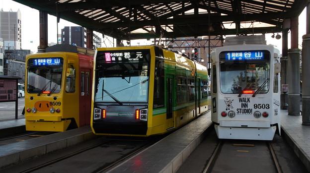 鹿児島市電 9509と7503と9503