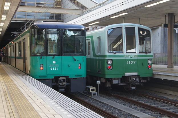 神戸市営 6000系 6131Fと1000系 1107F