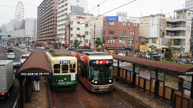 長崎電軌 308と3001