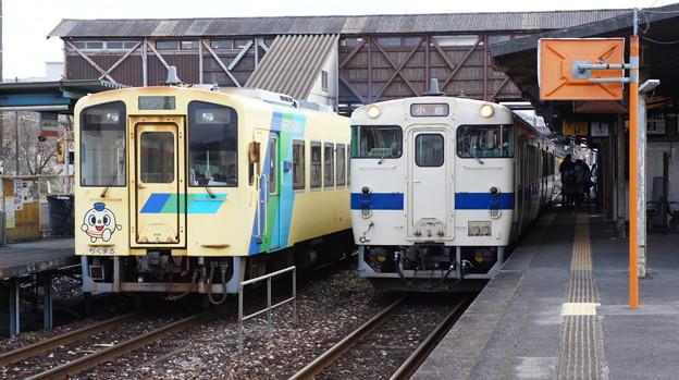 平成筑豊鉄道 406とJR九州 キハ147 54