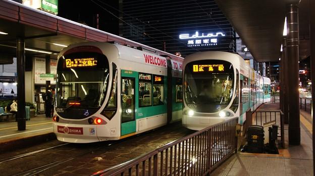 広島電鉄 5101と5107