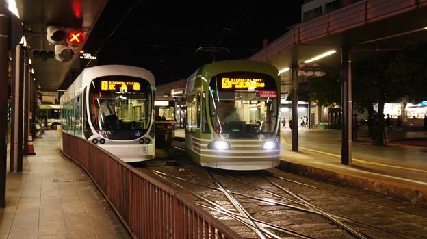 広島電鉄 5107と1001