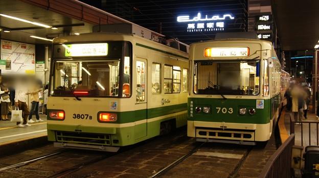 広島電鉄 3807と703