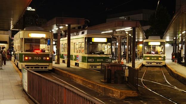 広島電鉄 703と808と809