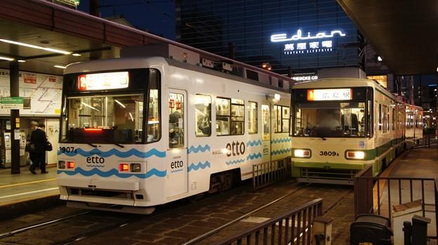 広島電鉄 3907と3809