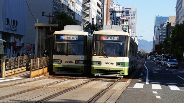 広島電鉄 3808と3809