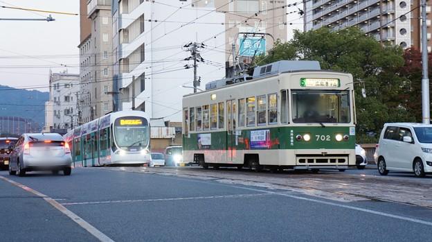 広島電鉄 702と5108