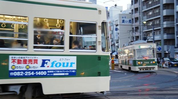 広島電鉄 801と702