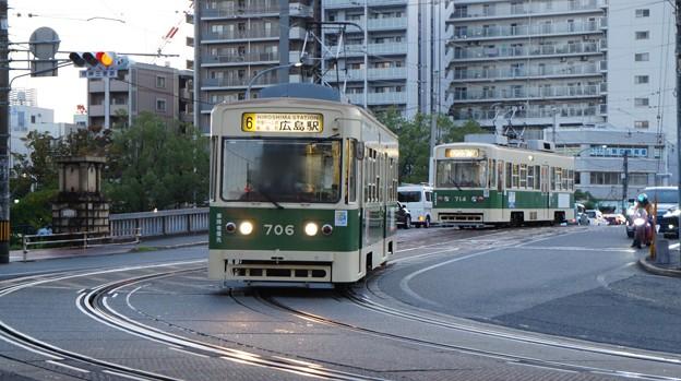 広島電鉄 706と714